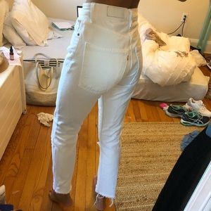 Re/done ankle crop white Levi's